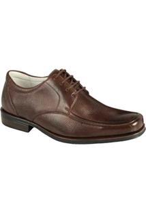 Sapato Social Couro Derby Sandro Moscoloni Hudson Masculino - Masculino-Marrom Escuro