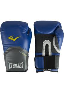 Luvas De Boxe Everlast Pro Style - 16 Oz - Adulto - Azul/Branco