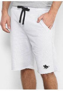 Bermuda Moletom Polo Rg 518 Pontilhado Masculino - Masculino-Branco