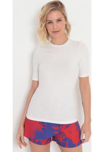 Camiseta Lisa- Off White- Colccicolcci