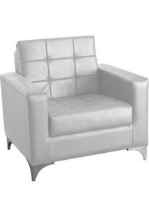 Poltrona Decorativa Taina - Branco Corino