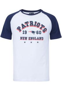 b80020d09d Camiseta New Era New England Patriots Sinse Team - Masculina - Branco Azul  Esc