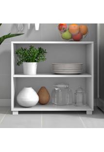 Armário De Cozinha 2 Nichos Bmu63 Branco - Brv Móveis