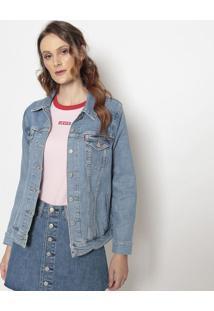 Jaqueta Jeans Com Bolsos- Azullevis