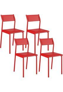 Cadeira 1709 Color Uv 04 Unidades Vermelha Carraro