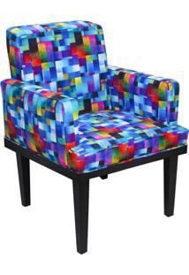 Poltrona Decorativa Vitória Para Sala E Recepção Estampado Mosaico D09 - D'Rossi