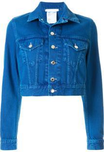 Helmut Lang Jaqueta Jeans Little Trucker - Azul