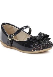 Sapato Lolis Fiori Para Bebê - Feminino-Preto