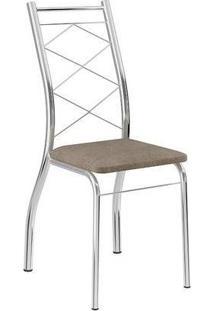 Cadeira Cromada 1710 02 Unidades Carraro | Cor: Cromada