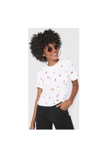 Camiseta Cantão Tuti Fruti Branca