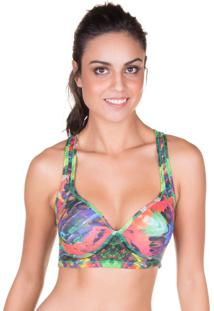 Top Fit Estruturado Print Verde | 506.807