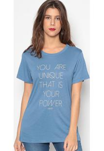 "Camiseta ""You Are""- Azul- Colccicolcci"