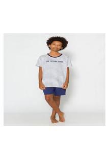 Pijama Juvenil Short E Camiseta Menino Evanilda 53010011