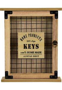 Porta-Chaves Kasa Ideia Madeira Basic Keys