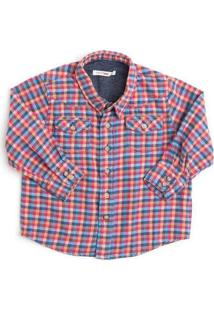 Camisa Mini Lenhador Xadrez Tio Camarada Reserva M