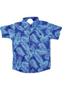 Camisa - Megan - Camisa Floral - Azul Clara