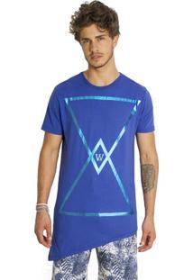 T-Shirt Wosmock Cosmic - Feminino-Azul