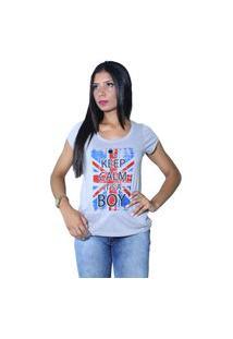 Camiseta Heide Ribeiro Keep Calm It'S A Boy Cinza Mescla