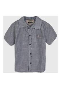 Camisa Brandili Mundi Infantil Mescla Cinza