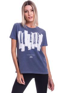 Camiseta Jazz Brasil International Jazz Azul - Azul - Feminino - Algodã£O - Dafiti