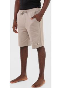 Bermuda Calvin Klein Underwear Reta Ck1 Bege - Bege - Masculino - Algodã£O - Dafiti