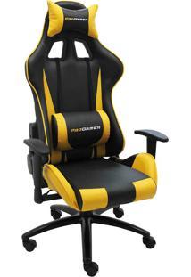 Cadeira Office Pro Gamer V2-Rivatti - Amarelo / Preto