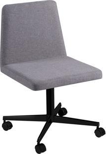 Cadeira De Escritório Interlocutor Office Estofada Cinza