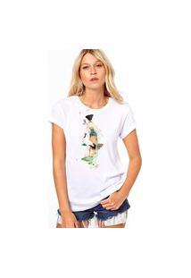 Camiseta Coolest Gueixa Indo Branco