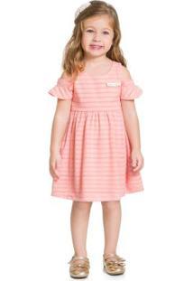 Vestido Infantil Rosa Blush