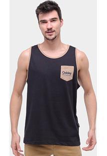 Regata Oakley Label Tank Masculina - Masculino-Preto