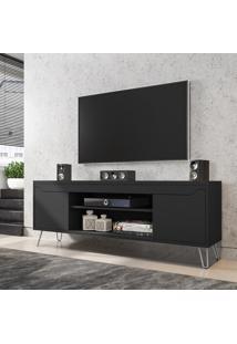 Rack Para Tv Até 60 Pol Móveis Bechara Chanel 2 Portas Preto Fosco