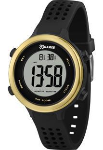 Relógio Pulso X Games Feminino - Quartz Digital - Xfppd062-Bxpx Preto E Dourado
