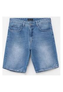Bermuda Lisa Em Jeans   Ripping   Azul   40