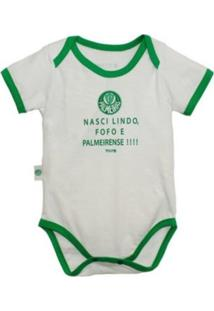 """Body Reve D'Or Sport """"""""Nasci Lindo..."""""""" Palmeiras Branca E Verde"""