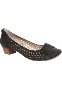 9745d061c Sapato Tradicional Em Couro Com Micro Vazados- Pretojorge Bischoff