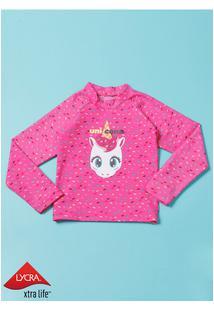 Camiseta Manga Longa Unicórnio Baby 3 A 6