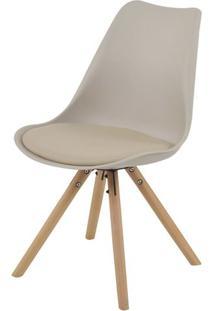 Cadeira Luisa Eames Polipropileno Nude Base Madeira - 53295 - Sun House