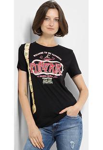 Camiseta My Favorite Thing(S) Estampada Feminina - Feminino-Preto