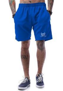 Bermuda Tactel Cellos Olympics Premium Masculina - Masculino-Azul Royal