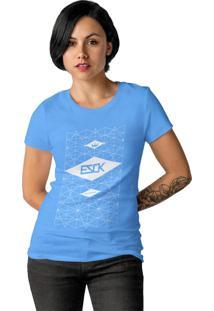 Camiseta Feminina Ezok Skate Lane Azul Claro