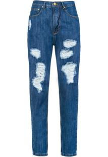 Amapô Calça Mom Jeans 'Oslo' - Azul