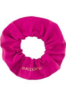 Balenciaga Acessório Para Cabelo De Couro - Pink & Purple