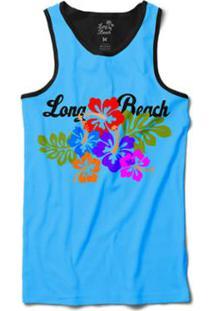 Camiseta Long Beach Regata Floral Sublimada Masculina - Masculino-Azul d6a43d6693e