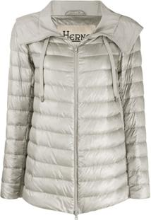 Herno Zip-Front Puffer Jacket - Cinza