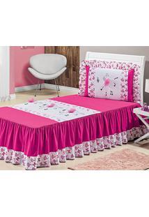 fc1564343 Colcha Solteiro Bailarina Pink Balê Com 3 Peças