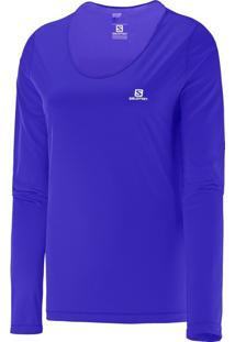 Camiseta Feminina Manga Longa Comet Ls Salomon Roxo Opulence P