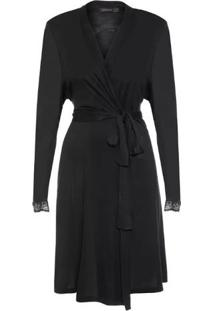 Robe Misty Loungerie - Preto