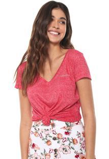 Camiseta Aeropostale Lisa Vermelha