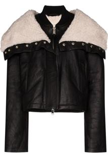 Shoreditch Ski Club Laburnum Oversized-Collar Jacket - Preto