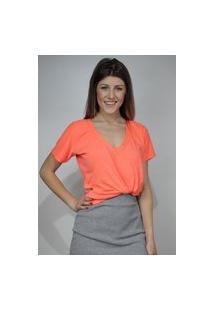 T-Shirt Dona Popi Neon Vibes Laranja